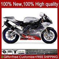 Carrosserie Moto pour Aprilia Mille RV60 RSV1000 R RR 2004 2005 2006 Body 11NO.90 RSV-1000 RSV1000RR RSV1000R 04-06 RSV 1000 R 1000R 1000RR 04 05 06 Kit de carénage Gris argenté