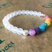 7 Chakra Elefant Charm Perlen Armband Mala Perlen Yoga Energy Armband Schmuck Für Männer Frauen 218 R2