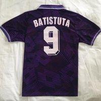 1992/93 Retro Floransa Futbol Formaları Klasik Fiorentina Batistuta 9 Laudrup Tayland Kalite Uzakta Üniformalar 1991/92 Ev Futbol Gömlek Camiseta Futbol Boyut S-XXL