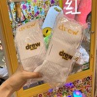 2021 Drew House Erkek Bayan Çorap Rahat Pamuk Nefes Mektubu Kaykay Hip Hop Uzun Çorap Için Çiftler Gelgit Tasarımcısı