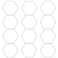 Wallpapers 50LF 12 Pack Set Hexagon Acoustic Absorption Panel Board Polyester Fiber Felt Soundproofing Insulation Pads Beveled Edges Tiles