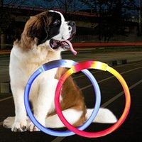 USB зарядки собаки ошейники открытый светящиеся животные жилище регулируемые светодиодные мигающие воротника домашних животных