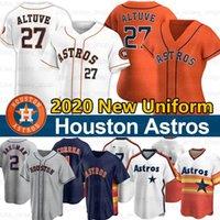 Houston Jose Altuve Jersey George Springer Alex Bregman Zack Greinke Justin Verlandesa Yuli Gurriel 2020 Temporada Jerseys