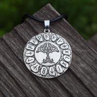 12pcs Árvore Celta da Vida Pingente Nordic Viking Runes Amuleto Colar Charme Pagan Vikings Norse Mitologia Sanlan Jóias Correntes