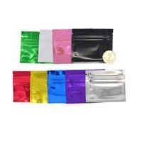 2000Pcs 7.5x6.5 cm Black Aluminum Mylar Foil Zipper Lock Bag Reusable Self Grip Seal Tear Notch Food Coffee Bean Storage Blind Bag
