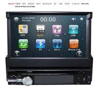 النسخ الاحتياطي كاميرا + GPS واحدة 1 الدين سيارة ستيريو راديو HD مشغل دي في دي بلوتوث 8 جرام SD خريطة بطاقة سيارة الوسائط المتعددة لاعب Automotivo SWC DAB +