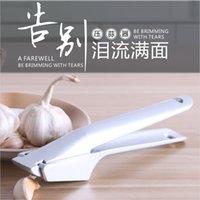 Paslanmaz Çelik Kırıcı Sarımsak Presleri Uygun Bölünmüş Alüminyum Alaşım Ginger Sarımsak Kıyıcı Mutfak Meyve Sebze Araçları 210319