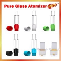 Atomizzatore di vetro pieno di olio spesso 0.5ml / 1ml pulito pulito ceramica bobina vape penna cartuccia xtank multiplo personalizza il marchio logo packaging pk puro uno G5