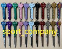 재고 있음 11 색 키 체인 나이프 미니 폴딩 나이프 야외 세이버 포켓 과일 나이프 다기능 키 체인 나이프 스위스 자기 방어 나이프 EDC 도구