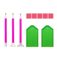 Mosaic Drill Pen Clay Tray Rhinestone Plate Kit DIY Diamond Painting Tool Set Crafts Sewing Embroidery Tools Notions &