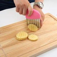 أدوات المطبخ متموجة المقلية فرايز القاطع الفولاذ المقاوم للصدأ القطاعة الخضروات المروحية الخضروات المقلي دائم مطابخ الأدوات القواطع CCA6859