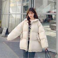 Women's Fur & Faux Jaqueta de inverno feminina, casaco algodão quente com capuz 9NA1