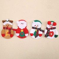 Faca Home Faca e Forquilha Conjunto Dos Desenhos Animados Santa Snowman Elk Talheres Set Férias Decoração Saco De Talheres Atacado