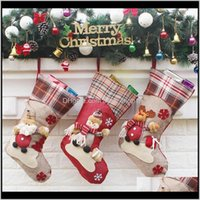 Garden6 Style Gift Bag Christma Childrens Candy Christmas Socks Decorations For Home Festive & Party Supplies Drop Delivery 2021 Ubqot