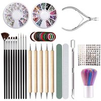 Nail Tool Set Bag For Art Gel Manicure Cuticle Remover Polish Nourishment Plastic Bagged Kits