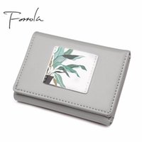 Wallets Women Design Painting Leather Tri-fold Wallet Fashion Lady Portable Small Change Purse Female Carteras Money Card Holders