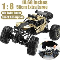 1:8 50cm RC Car 2.4G Radio Control 4WD Off-road Electric Vehicle Monster Buggy Remote Control Car Gift Toys For Children Boys 210915