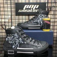 Высочайшее качество мужчины женщин B22 B23 наклонные повседневные туфли роскошные дизайнеры кроссовки технологии кожаный холст дышащий на открытом воздухе плоские мужские кроссовки кроссовки