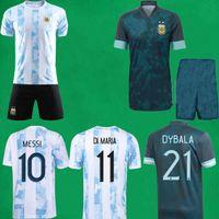21/22 Arjantin Futbol Forması Kısa COPA Amerika 2021 Messi Dybala di Maria Maradona LAUTARO Futbol Gömlek Ev Uzakta Erkek Çocuk Kiti Spor Üniformaları Maillot de Foot