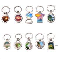 التسامي فارغة المفاتيح المعادن حلقة حلقة الحزب صالح 13 أنماط diy نقل مفاتيح الطباعة خواتم هدية DHD5651