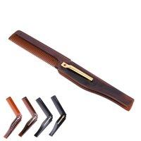 Hair Brushes Foldable Comb Folding Pocket Clip Moustache Beard Fashion Men Women Handmade Massage Brush