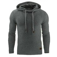 New Trade Autumn Winter 2020 European Foreign and American Mens Jacquard Sweater Long-Sleeved Hoodie Warm Color Hood1TXM