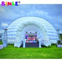 無料配送空気支持カラフルなLEDライトが付いている膨脹可能なドームのテントが結婚式/パーティーのためのイグルーのテント展示ホールを爆破する