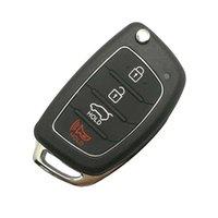 Новые 4 кнопки ABS Metal Flip складной удаленный ключ оболочки FOB чехол для Hyundai Mistra Santa Fe Sonata Tucson Accent I30 I40 I45