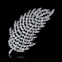 Foglie di matrimonio in lega di fabbrica foglie di foglie di piume diamantate