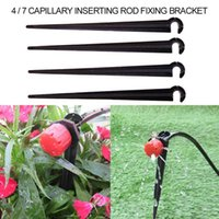 Watering Equipments 50-200PCS Durable 1 4'' C-type Hook Fixed Stem Support Holder Stakes For 4 7mm Hose Flowerpot Drip Irrigation Fitting Gr