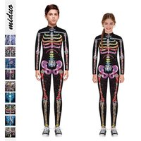 Children's 3D skeleton digital printing Costume Halloween Jumpsuit comfortable breathable children's pants