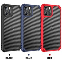 Carbon fiber Transparent Phone Cases For iPhone 13 12 11 Pro MAX XS XR X 8 7 6 6S Plus case Anti-fall Acrylic PC Hard Back Cover