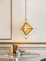 Pendant Lamps Nordic Dining Room Lights Creative Loft Cafe Clothing Store Bar Post-modern Minimalist Diamond Chandelier