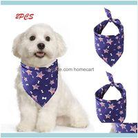 Apparel Supplies Home & Gardendog Pet Bibs Saliva Towel Decor Hats Cat Dog 2Pcs Aessories For Small Dogs Aesorios Para Perros Drop Delivery