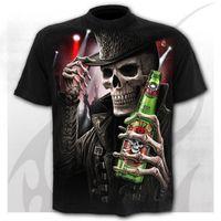 Camiseta Concierto DIY TEES PARA HOMBRES 2020 Verano Nueva camiseta para hombre 3D Skull Poker Moda de manga corta New Hunter