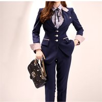 2020 Runway High-end Women's Suit 2 Pieces Set Autumn Fashion Single-breasted Ol Bussines Office Lady Blazer Pants Suits