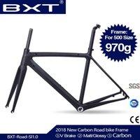 자전거 프레임 BXT 도로 프레임 Ultralight BSA DI2 500 / 530 / 550mm 프레임 + 포크 + 헤드셋 탄소 프레임 세트