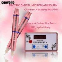 Tattoo Guns Kits 2021 Charmant 4 Electric Digital Pen Set Eyebrow Lip EyeLiner Microblading Gun Permanent Makeup MTS Hydro Lifting Machine