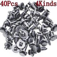40ピースユニバーサルアクセサリー6 8 10 24プラスチック品揃えリテーナプッシュクリップ実用的なドアパネルカーバンパーリベットその他の車両ツール