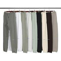 2021 Sonbahar Kış ABD 3 M Yansıtıcı Pantolon Pantolon Rahat Matcha Yeşil Kahve Kahverengi İpli Sweatpants Erkek Kadın Jogger
