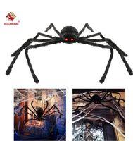 Partido Decoración de Halloween Black Spider Haunted House Prop Indeor Outdoor Gigante 3 Tamaño 30 cm 50cm 75cm