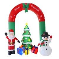 زينة عيد الميلاد 1 مجموعة سنة عيد ميلاد سعيد للمنزل الشتاء حزب الزنجبيل ثلج سانتا كلوز شجرة نفخ قوس