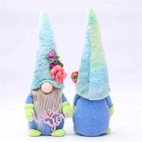 15 adet / DHL Karikatür Mavi Şapka Rudolph Yüzsüz Bebek Anneler Günü Hediye Peluş Bebekler Aşk Size Anne Peluşlu Cüce Peluş Gnome Parti Süs G32MO9F