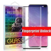 Protecteur d'écran de téléphone de verre trempé de verre trempé 3D pour Samsung Galaxy S21 S20 Note20 Ultra S10 S8 S9 S9 Plus Note10 Note8 Note9 Film dans la boîte de vente au détail