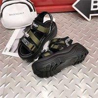 Aphixta 6 cm Kalın Alt Platformu Sandalet Kadınlar Elmas Kristalleri Yüksekliği Artan Ayakkabı Kadın Tuval Yaz Toka Kadın Sandal CX200618