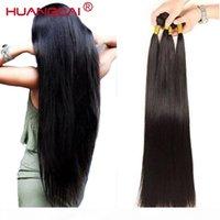 36 38 클로저 브라질 직선 인간의 머리카락을 가진 40 인치 번들 긴 레미 헤어 익스텐션 1 3 4 폐쇄가있는 번들