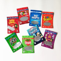 empty Rice TREATS mylar bag cereal edibles packaging stand up pouch resealable zipper lucky charmz froot loops