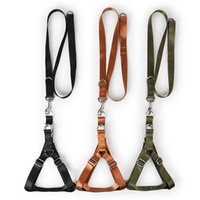 Dog Collars & Leashes Pet Nylon Army Green Adjustable Vest Harness Sets Military Style Walking Leash Lead Outdoor Supplies For Medium Large