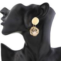 Gold Color Stud Earrings Geometric Weave Ball Pearl Pendant For Women Brincos Earing Brinco Oorbellen Earings Jewelry