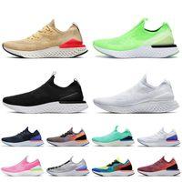 Nike air Epic React Fly Knit Top Mode Chaussures Hommes Femmes Slip On Chaussures de course epic react blanc noir beige rose baskets de sport designer sneakers